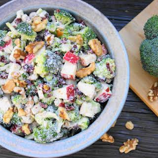 Broccoli & Apple Salad.