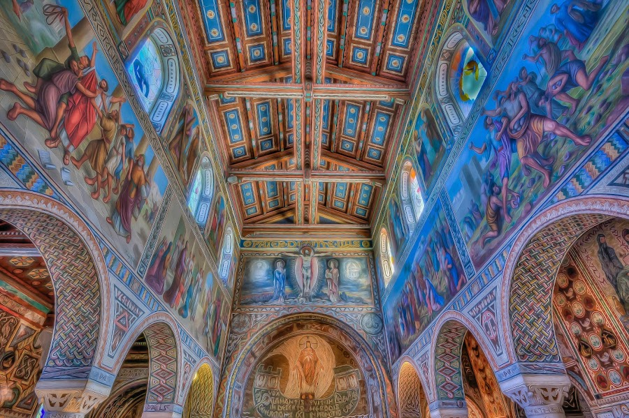 The holy ceiling by Ron Stollman - Buildings & Architecture Places of Worship ( jerusalem, hdr, church, ceiling, biet shemesh, israel )