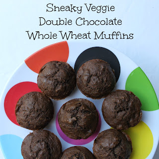 Sneaky Veggie Double Chocolate Whole Wheat Muffins