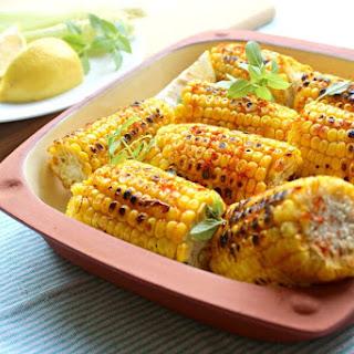 Charred Paprika Turmeric Corn Cobs.