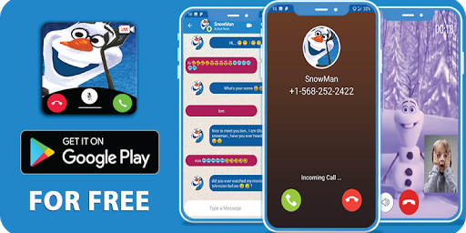 video call, chat simulator and game for snowman 1.1 screenshots 8