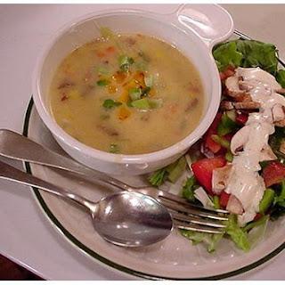 Cream Of Potato & Cheddar Soup.
