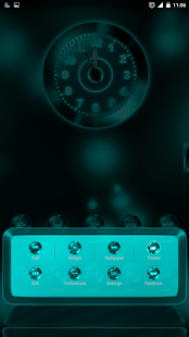 Next Launcher Theme MixedCYAN- screenshot thumbnail