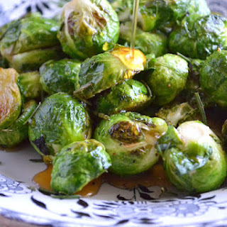 Roasted Cider Glazed Brussels Sprouts