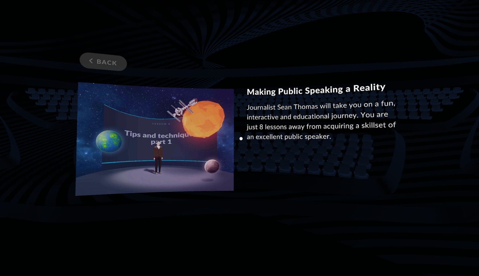 Speech Center VR- screenshot