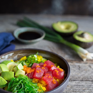 Ahi Tuna Poke Bowl with Turmeric Rice.