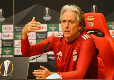 """Jorge Jesus prêt à recevoir le Standard : """"Benfica force le respect par son histoire nationale et internationale"""""""