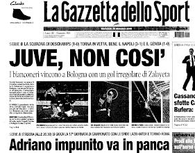 Photo: 20 dicembre 2006. Gol incerto di Zalayeta, in B