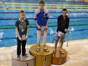 Photo: Międzynarodowe Zawody Pływackie w Brześciu (Białoruś) - Krzyżaniak K. Ic - srebrny medal 400m dowolnym