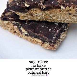 Sugar Free No Bake Oatmeal Peanut Butter Bars Recipe