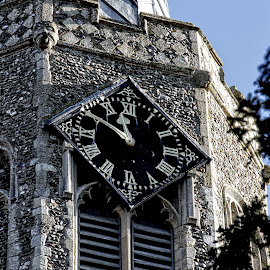 Wickham church clock by Michael Moore - Buildings & Architecture Architectural Detail (  )