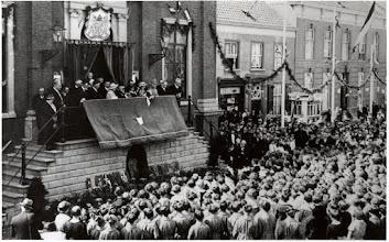 Photo: 1935 Inhuldiging van burgemeester G.M. Sutorius,