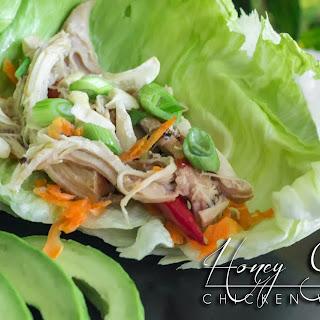 Instant Pot Honey Garlic Chicken Lettuce Wraps