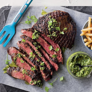 Skirt Steak With Green Sauce.