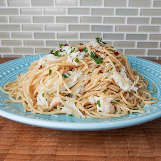 Crab pasta #SundaySupper.
