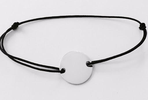 bracelet pastille argent plate