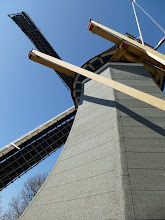 Photo: Up close with a windmill