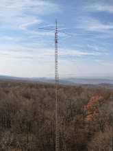 Photo: 180' 40m tower as seen from 120' 10m tower looking southwest