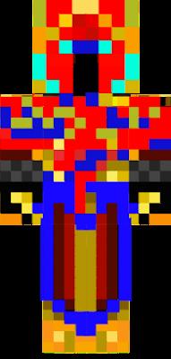 Ritter mit einer Goldenen Rüstung und Blutigesschwert