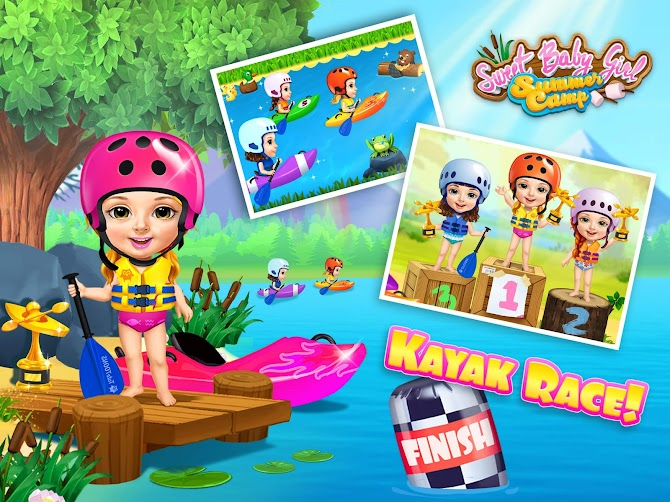 Sweet Baby Girl Summer Camp - Kids Camping Club Android 12