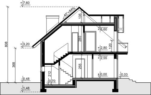 Dom przy Alabastrowej 17 - Przekrój