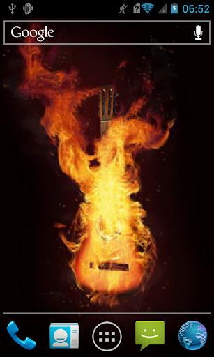 Burning guitar Live WP