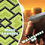 Clash Maps & Wallpapers HD Icon