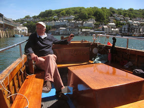 Photo: We hire a boatman to take us upriver ...