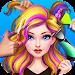 Hair Stylist Fashion Salon ❤ Rainbow Unicorn Hair Icon