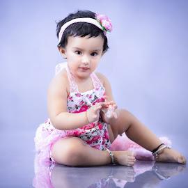Sudeeksha by Shashi Patel - Babies & Children Child Portraits ( shashiclicks, love, hyderabad, shashipatel, babygirl, photographer, india, cute, eyes, photography, hairband )