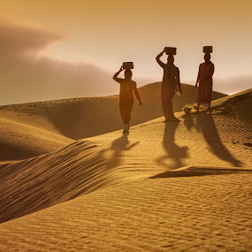 Sand dunes in Phan Rang (Vietnam) by Andre Minoretti - People Street & Candids ( sand, dunes, desert, vietnam, sunrise, landscape )