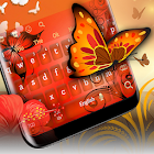Orange Butterfly Keyboard icon