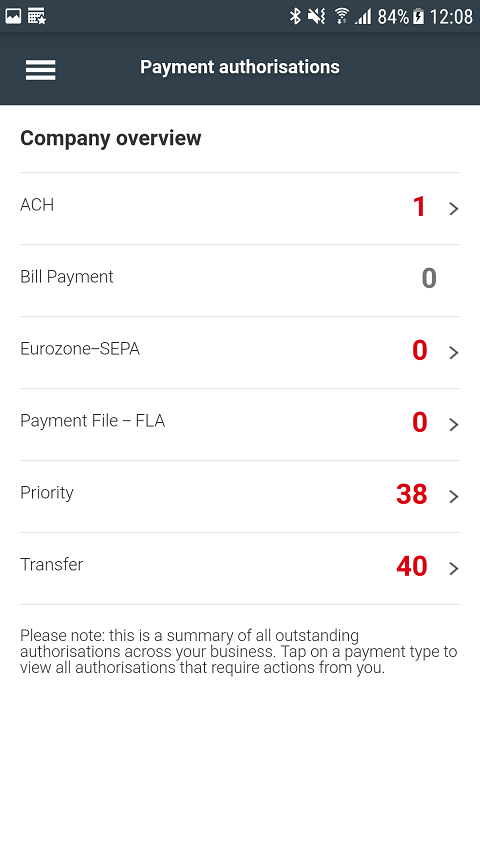 HSBCnet Mobile- screenshot