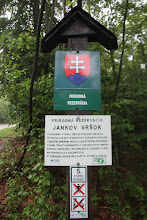 Photo: Prírodnú rezerváciu Jankov Vŕšok sme mali dlhší čas po pravej strane