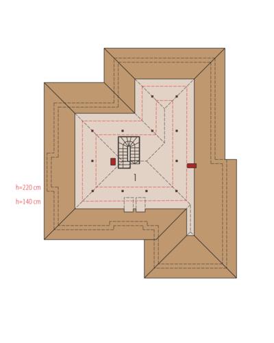 Kornelia II G2 Leca® Dom - Rzut poddasza do adaptacji