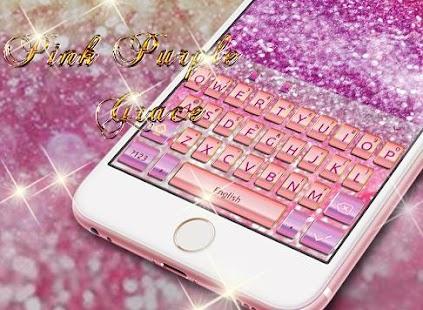 Pink Purple Grace Keyboard - náhled