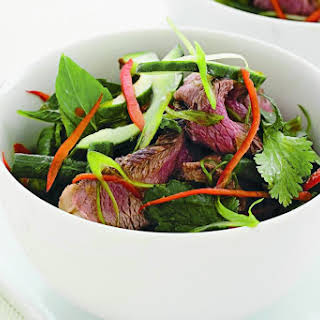 Thai Chilli Beef And Snake Bean Salad.