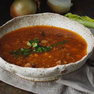 Low-Carb Italian Sausage Soup-Instant Pot.