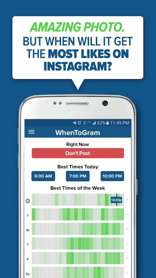 WhenToGram - Best Time to Post- screenshot