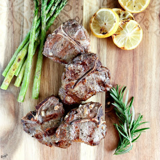 Grilled Lamb Loin Chops.