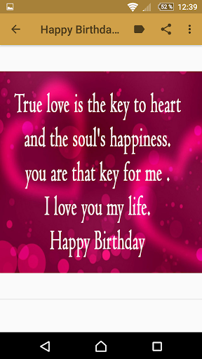 Magnificent Happy Birthday My Love Quotes Apps On Google Play Personalised Birthday Cards Beptaeletsinfo