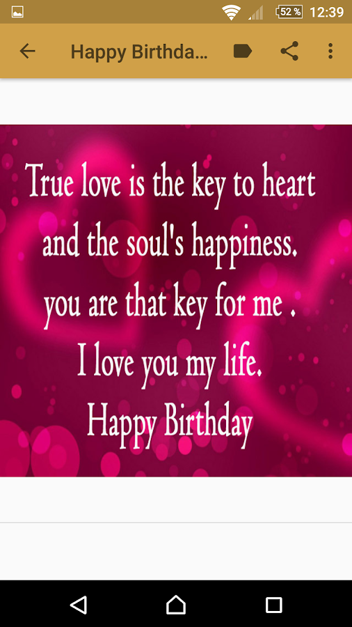 Love Quotes For My Love Custom Happy Birthday My Love Quotes  Android Apps On Google Play