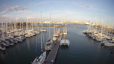 Photo: Portsmouth vu depuis le haut du mat à Gosport