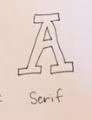 serifs on block letters
