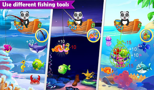 Happy Fisher Panda: Ultimate Fishing Mania Games  screenshots 4