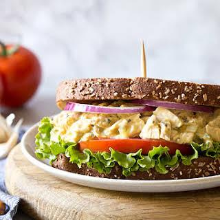Garlic Hummus Chicken Salad Sandwiches.