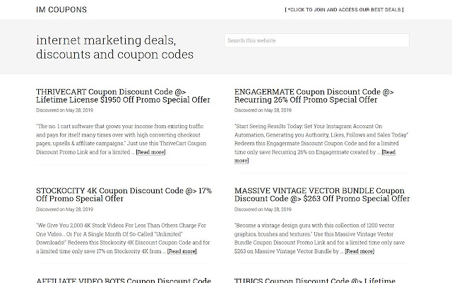 Internet Marketing Deals and Discount Coupons