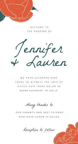 Jennifer & Lauren - Wedding Program item