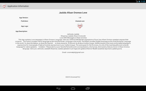 Jaalala Oromoo Love Messages - Apps on Google Play