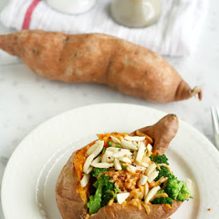 Healthy Stuffed Sweet Potatoes with Broccoli..